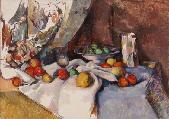 Cezanne, Paul: Still Life with Apples. Fine Art Print/Poster. Sizes: A4/A3/A2/A1 (004222)